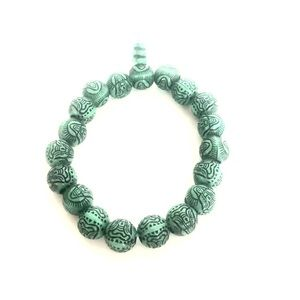 Jewelry - Green Malachite Meditation Beaded Elastic Bracelet